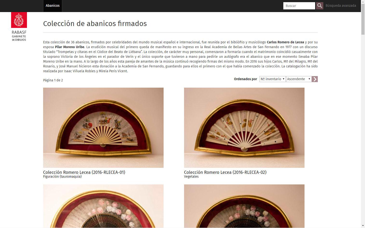 Imagen 1 de 4 - Colecci贸n de abanicos Romero Lecea