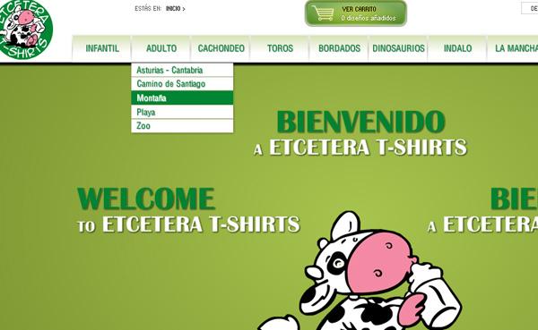 Imagen 4 de 5 - Aplicaci贸n Etcetera T-shirts